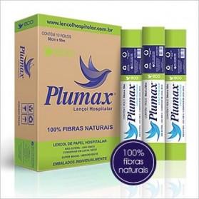 Lençol Hospitalar 100% Fibras Naturais 70cmx50m- Plumax ECO