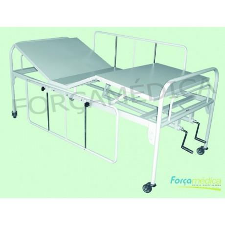 Cama FAwler Standard (tubo redondo) 1,90m x 0,90m x 0,65m - Força Médica
