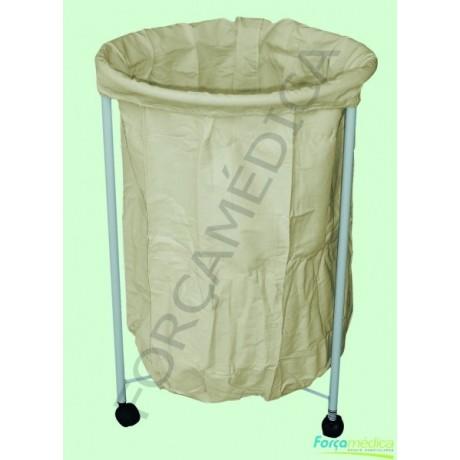 Hamper c / saco em tecido lonado 0,50m x 0,80m - Força Médica