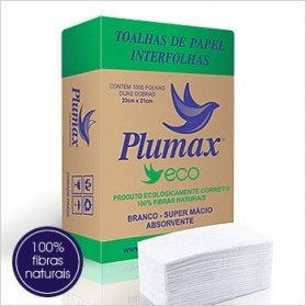 Toalhas de Papel Interfolha ECO 100% Fibras Naturais Plumax