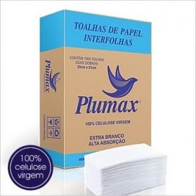 Toalhas de papel Interfolha Plumax 100% celulose